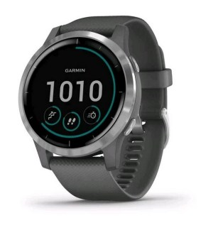 Garmin Vivoactive 4 Shadow Grey with Silver Hardware | 010-02174-02