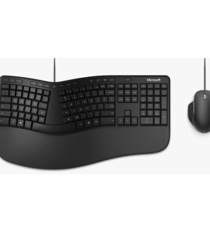 Microsoft Ergonomic Desktop Keyboard & Mouse | Black | RJU-00004