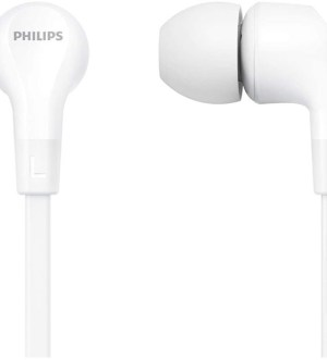 Philips In-Ear Headphones  With In-Line Remote Control (8.6-Mm Neodymium Drivers, Powerful Bass, Clear Sound, Comfortable Fit) White | TAE1105WT/00