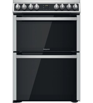 Hotpoint 60cm Cooker with Ceramic Hob in Stainless Steel   HDM67V8D2CX/UK
