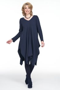 Navy blue day dress perfect for Christmas