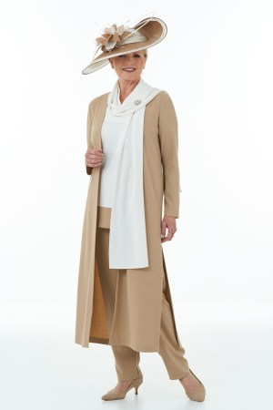 Camel and Ivory 4 piece Trouser Outfit