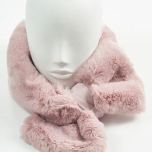 Pink Faux Fur Collar