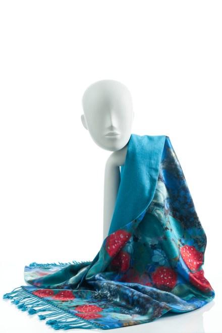 Silk Wrap in Blue