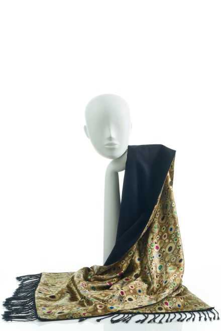 Silk Wrap in Gold