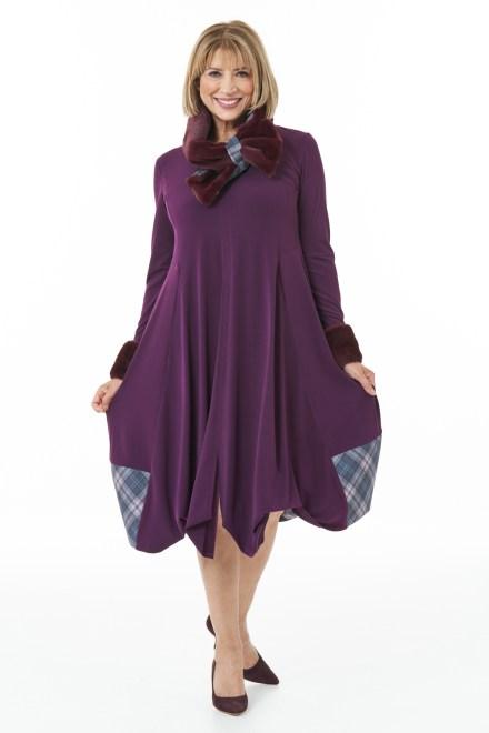 Islay Mist Tartan Trim Bubble Dress