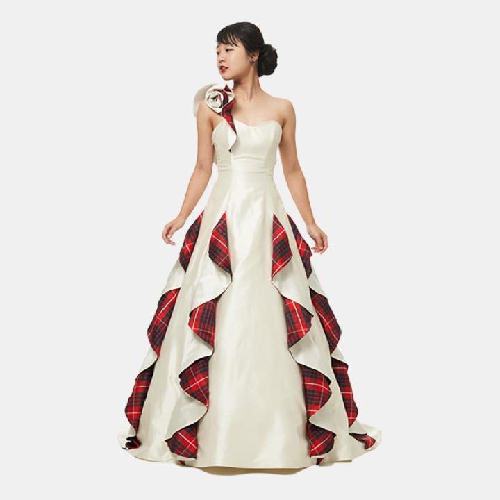 Tartan Wedding Dress for Japanese Exhibition