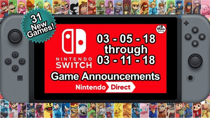 Game Announcements for Nintendo Switch Week 2 of March 2018