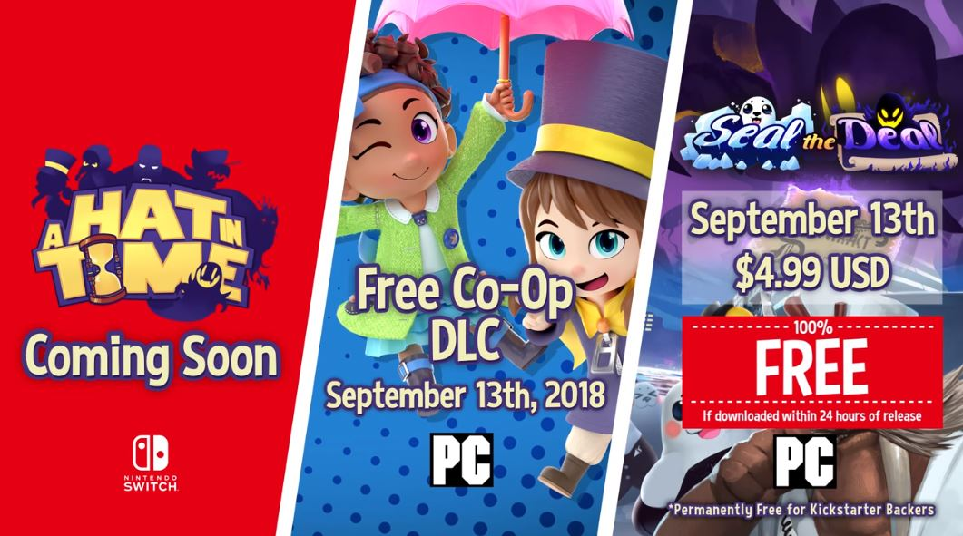 A Hat In Time is Coming to Switch 'Soon.'