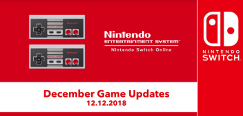December Nintendo Switch Online Classics Update