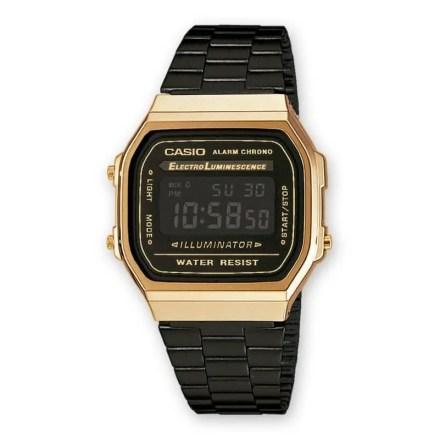 Reloj Casio A168WEGB-1BEF Unisex NEW con caja de resina y brazalete de acero bicolor Casio Collection 2016