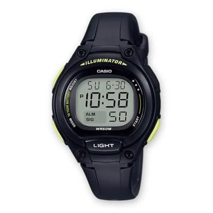 Reloj Casio LW-203-1BVEF de niña NEW con caja y correa de resina negra-amarillo Casio Collection