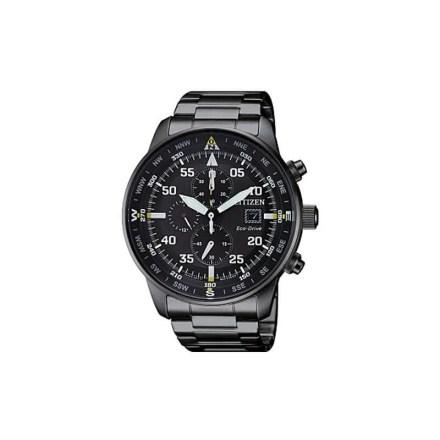 Reloj Citizen CA0695-84E de hombre NEW con caja y brazalete de acero ip black Crono Aviator