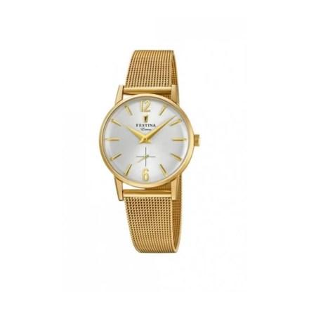 Reloj Festina F20259/1 de mujer NEW con caja y brazalete de acero chapado malla milanesa nueva colección Extra