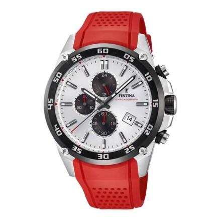 Reloj Festina F20330/1 de hombre NEW con caja de acero y correa de caucho roja The Originals