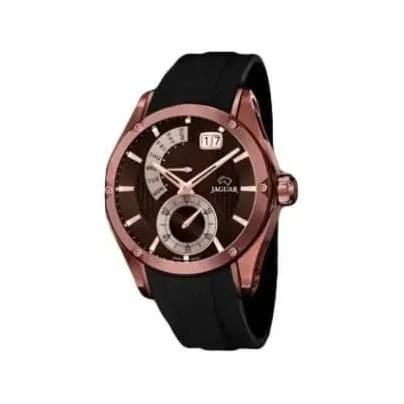 Reloj Jaguar J680/1 de hombre NEW con caja de acero chocolate rosa 18 K y correa de caucho Edición Limitada