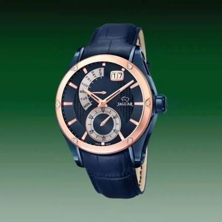 Reloj Jaguar J815/A de hombre NEW con caja de acero ip oro rosa-azul y correa de piel Edición Especial