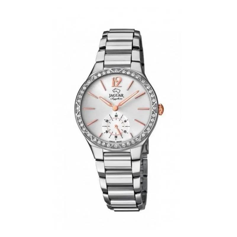 Reloj Jaguar J817 1 de mujer NEW con caja y brazalete de acero con cristal 31c88247e207