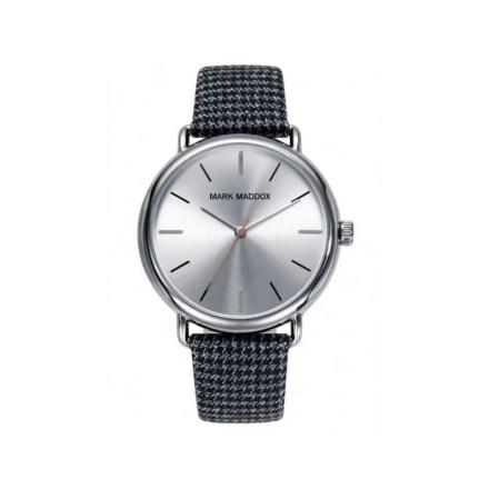 Reloj Mark Maddox HC3029-87 de hombre NEW con caja de acero y correa de piel analógico