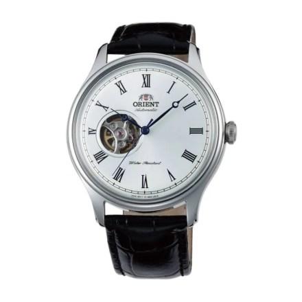 Reloj Orient FAG00003W0 de hombre NEW con caja de acero y correa de piel negra colección Meccanico