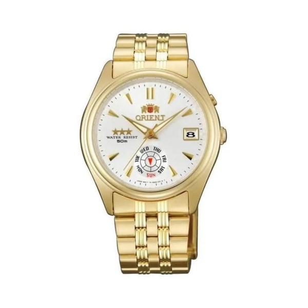 Reloj Orient FEM5J00HWF de mujer OFERTA con caja y brazalete de acero chapado en oro Automático