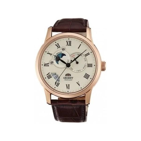 Reloj Orient FET0T001W0 de hombre OFERTA con caja de acero ip oro rosa y correa de piel automático Edición Limitada