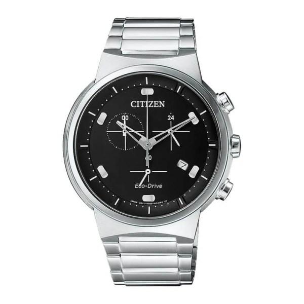 Reloj Citizen AT2400-81E de hombre NEW con caja y brazalete de acero cronógrafo Eco-Drive