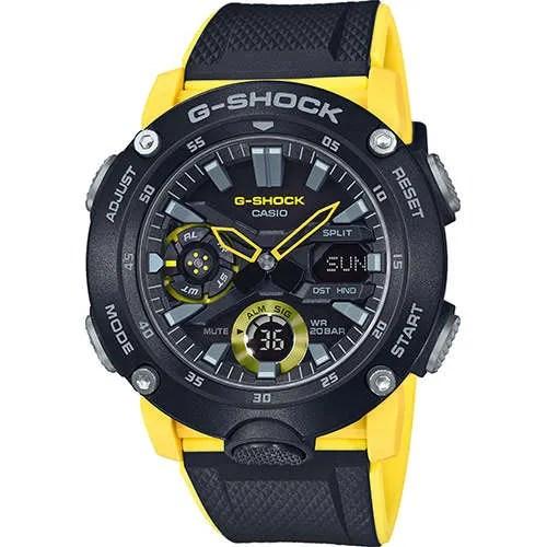 4d21af07a5ce Reloj Casio GA-2000-1A9ER de hombre con caja de carbono y correa ...