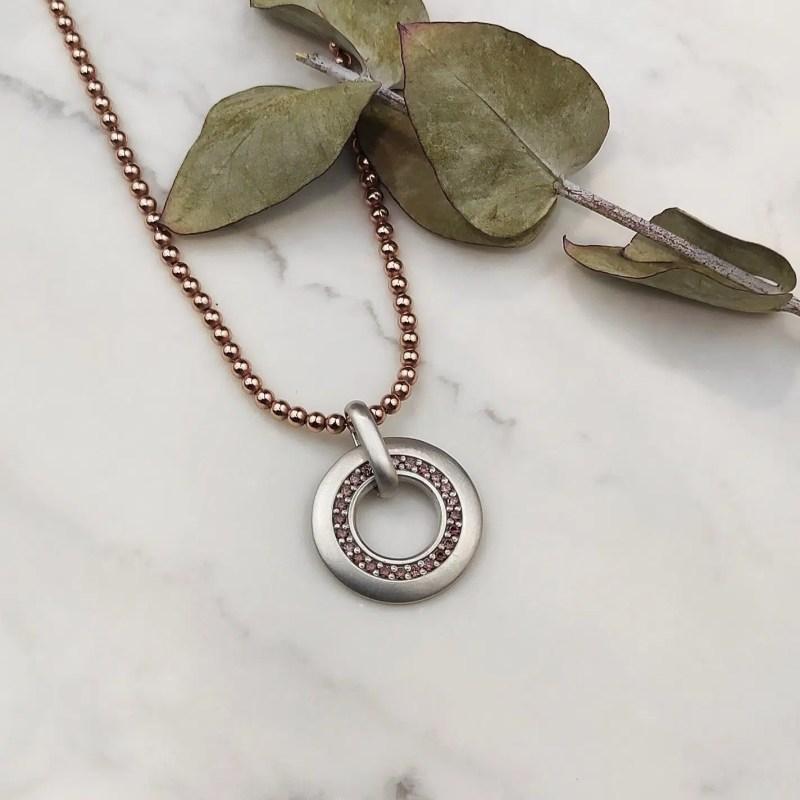 Colgante de plata círculo