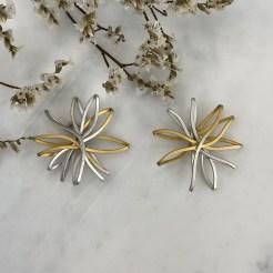 Pendientes de plata flor Dalia