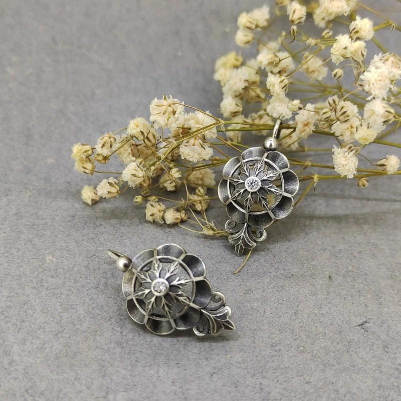 pendientes de plata personalizados tipo antiguo