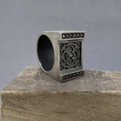 sello plata mandala cuadrado