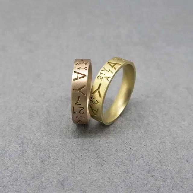 alinazas de boda con grabado de iniciales joyeria zaragoza
