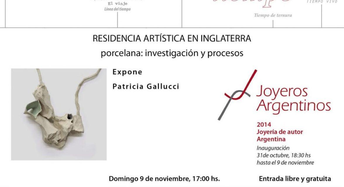 Charla: Residencia artística en Inglaterra; Porcelana, investigación y procesos, por Patricia Gallucci