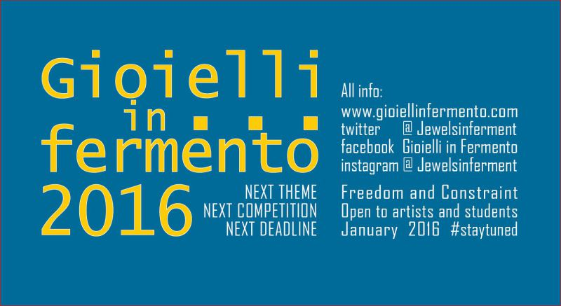 Convocatoria: Gioielli in fermento 2016 (Italia)