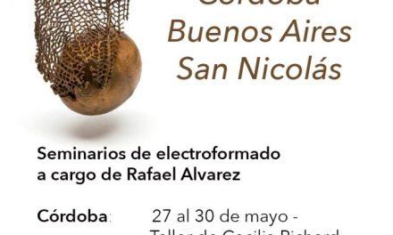 Seminario de electroformado en Cordoba, Buenos Aires y San Nicolás, a cargo de Rafael Alvarez