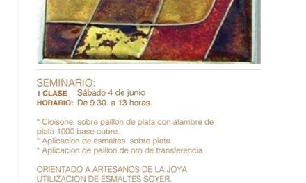 Seminario de cloisone de plata, a cargo de Beatriz Cabrera