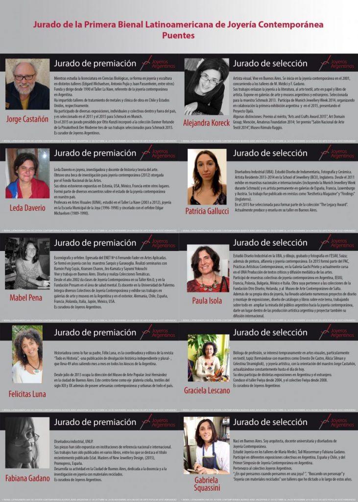 """194e52ff8720 Jurado de la 1º Bienal Latinoamericana de Joyería Contemporánea """"Puentes"""""""