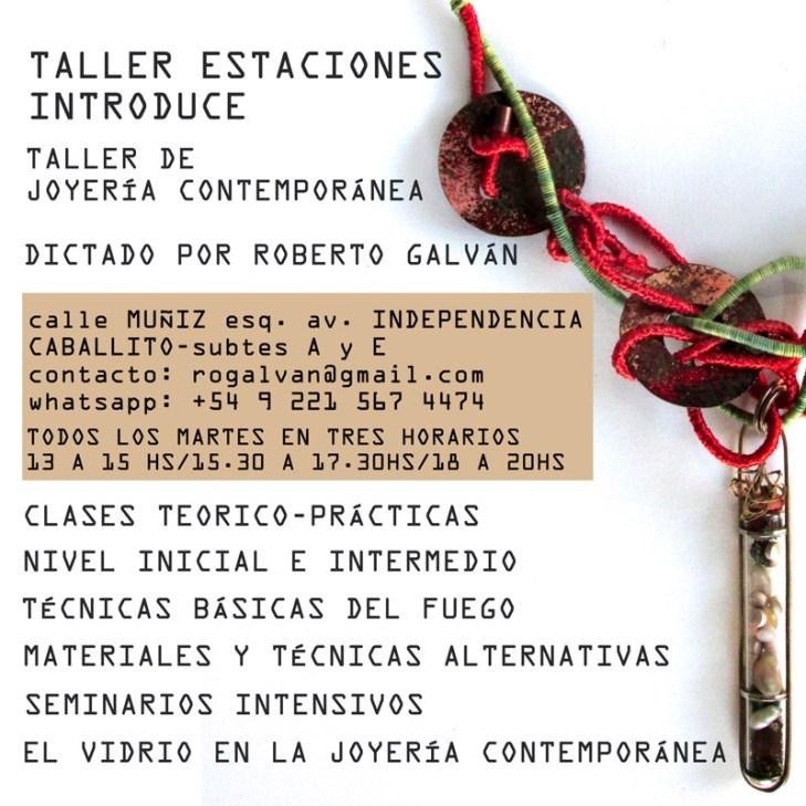 flier cursos TALLER ESTACIONES