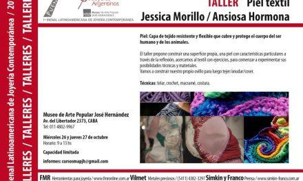 Piel Textil, taller a cargo de Jessica Morillo en el marco de la Bienal