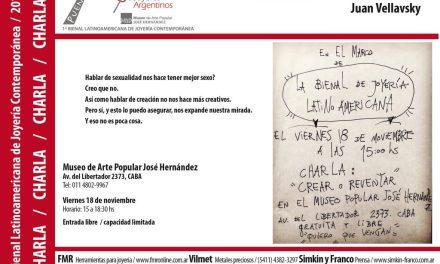 Crear o reventar, charla de Juan Vellavsky en el marco de la Bienal