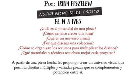De la pieza a la colección, workshop a cargo de Irina Fiszelew en Estudio Joya