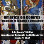 América en colores, encáusticas en homenaje a Antonio Pujía
