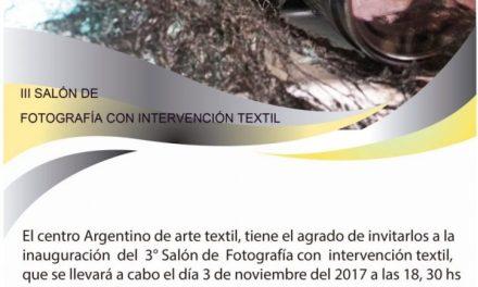 Fotografía con intervención textil en el CAAT, con participación de Gaby Squassini