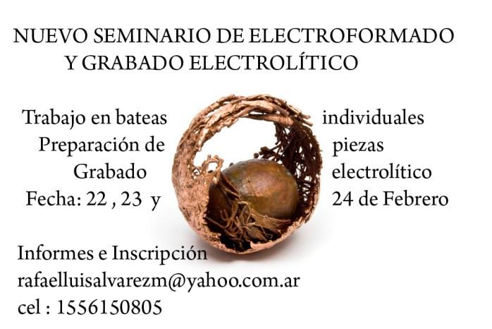 electroformado y grabado electrolítico