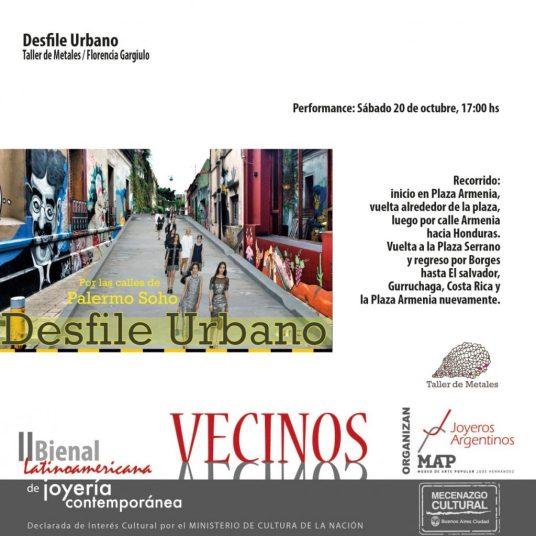 Bienal 2018: Desfile Urbano del taller de Florencia Gargiulo
