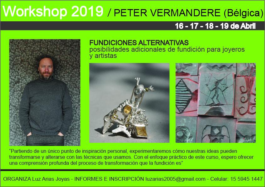 Peter Vermandere - Workshop fundición