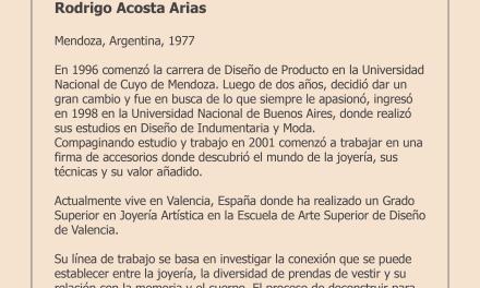 Conferencia gratuita de Rodrigo Acosta en Taller Eloi