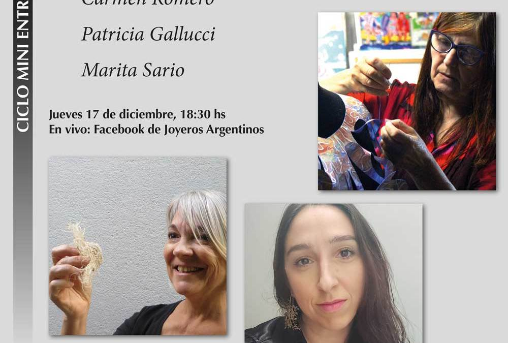 Toman la palabra: Carmen Romero, Marita Sario y Patricia Gallucci