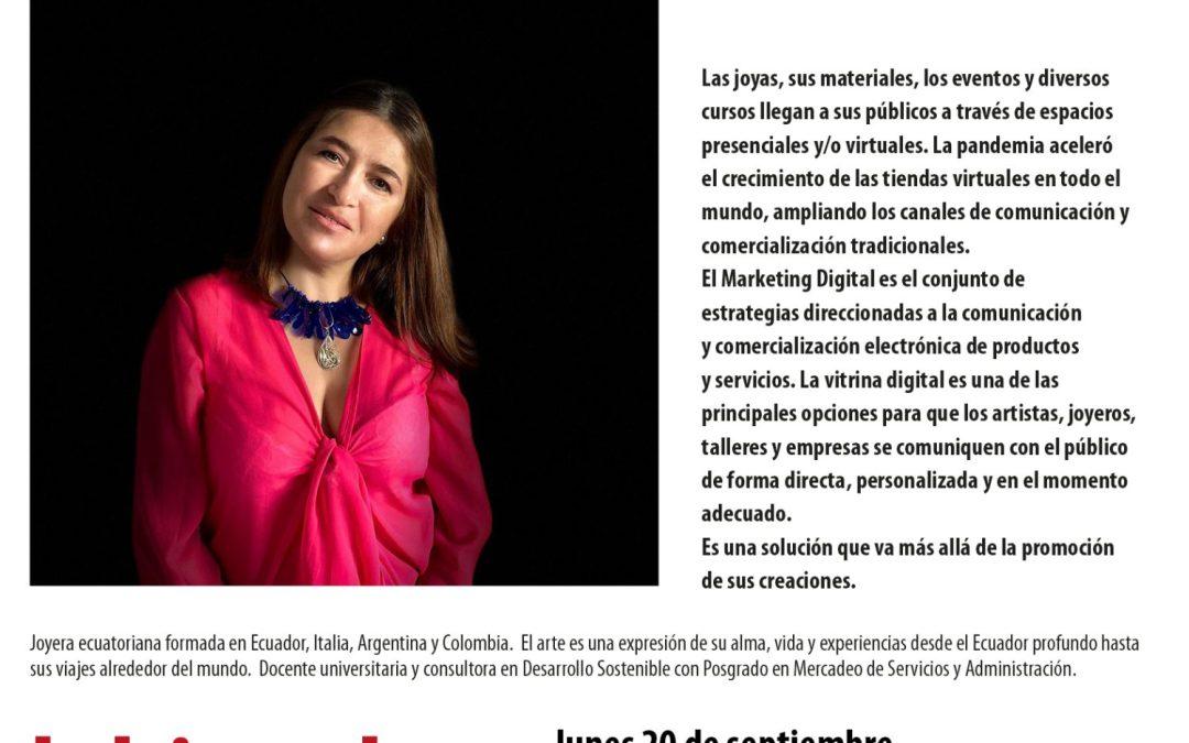 Vitrina digital y joyería, charla de Fernanda Palacios en La Bienal